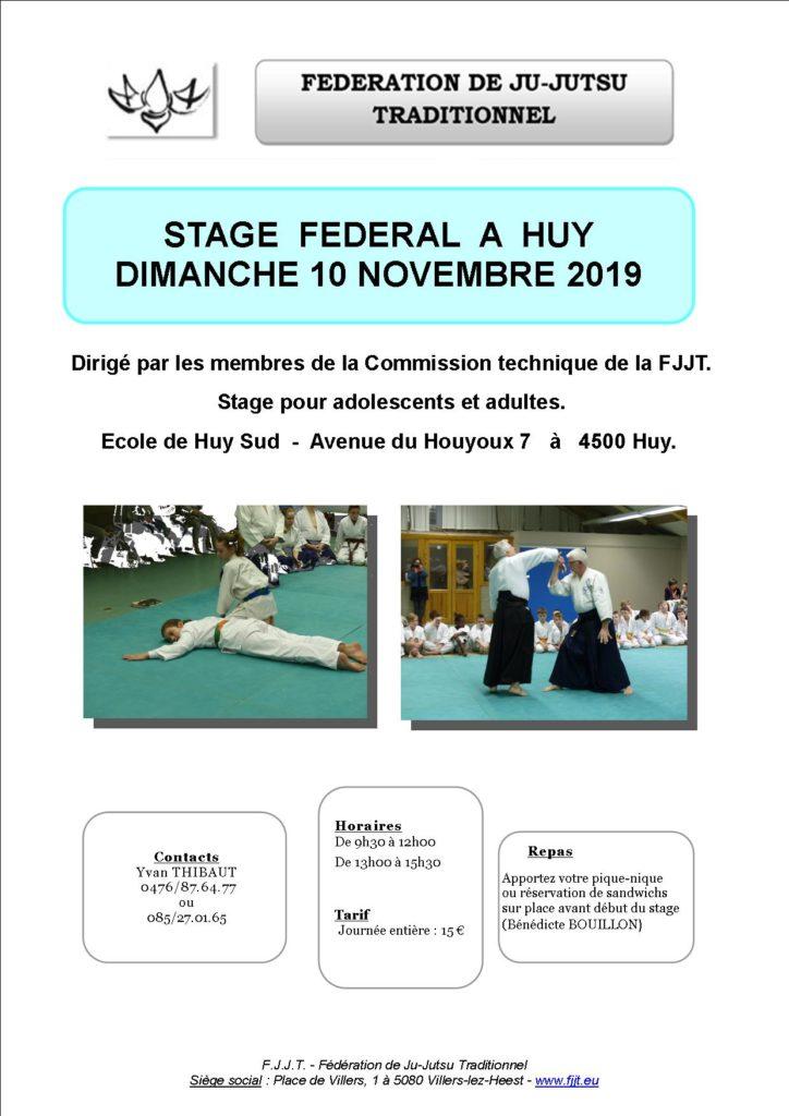 Stage Fédéral @ Club de Huy